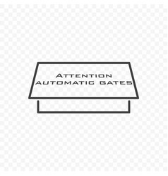 icon automatic gate on transparent vector image