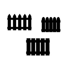 Icon fence fencing vector