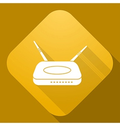 icon of Router with a long shadow vector image
