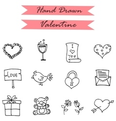 Icon of valentines day gift bird doll vector image