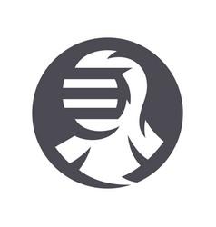japanese kendo helmet silhouette sign vector image
