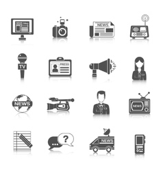 Journalist Icon Black vector