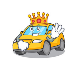 King taxi character mascot style vector