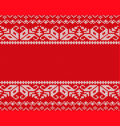 knit christmas design geometric seamless pattern vector image