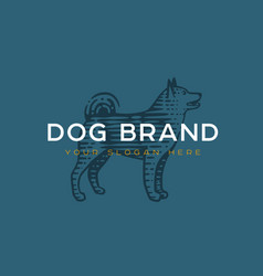 logotype dog vector image
