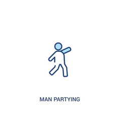 Man partying concept 2 colored icon simple line vector