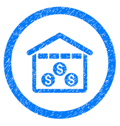 money depository rounded grainy icon vector image