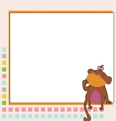 monkey learning vector image