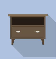 nightstand icon flat style vector image