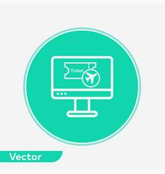 online flight booking icon sign symbol vector image
