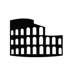 roman coliseum ruins landmark silhouette vector image
