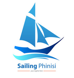 Sailing phinisi vector