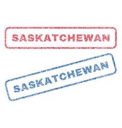 saskatchewan textile stamps vector image