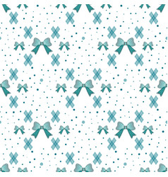 seamless pattern with tie and bow on a polka dot vector image