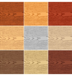 Set color wood texture vector image