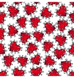 Spiky broken hearts with nails seamless pattern vector image vector image