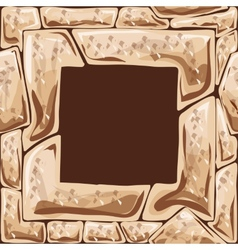 Square frame on stone seamless pattern vector