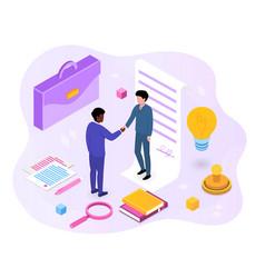 Success partnership concept vector