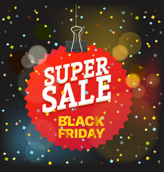 super sale concept black friday red tag vector image