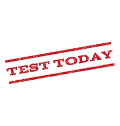 Test Today Watermark Stamp vector image