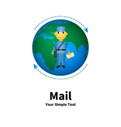 the concept of mail vector image