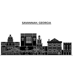 Usa savannah georgia architecture city vector