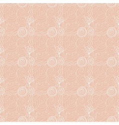 Valentine floral seamless retro pattern vector image