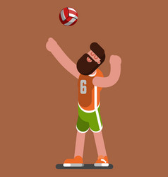 Volleyball sketch player vector