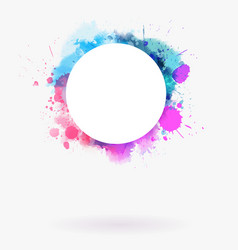 watercolor imitation multicolored background vector image
