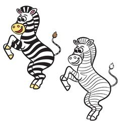 Zebra coloring book vector