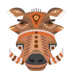 boar head logo decorative emblem vector image vector image