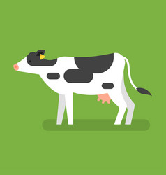 flat style of cow vector image