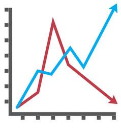 line diagram flat vector image vector image