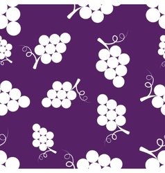 Pattern Silhouette Grapes vector image