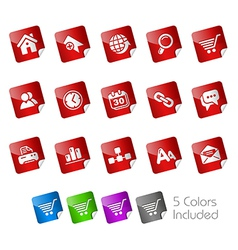 Website Internet Stickers vector image vector image