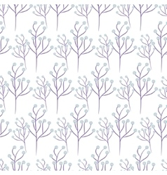 Wild flower spring field seamless pattern vector image vector image