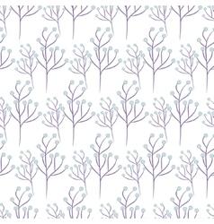 Wild flower spring field seamless pattern vector image