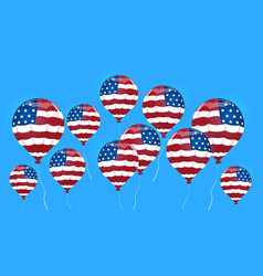 air balloon colored in united states flag vector image vector image