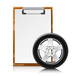 clipboard with wheel vector image vector image