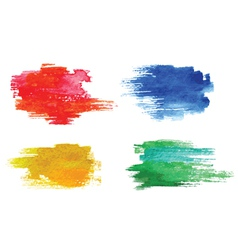 Colorful watercolor design elements vector image vector image