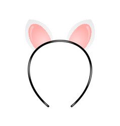 headband with cat ears vector image