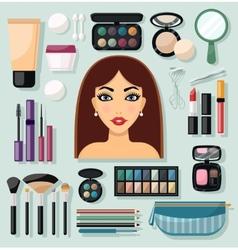 Make-up Icons Flat vector image vector image