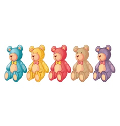 teddy bears vector image