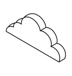 cloud computing isometric icon vector image