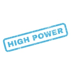 High Power Rubber Stamp vector image vector image