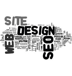 what you need to know about seo web design text vector image vector image