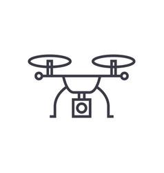 drone logistics concept thin line icon vector image