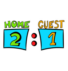 scoreboard icon icon cartoon vector image