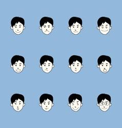 Smiley faces emoticon set vector image