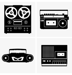 Tape recorders vector image vector image